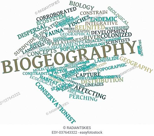 Abstract word cloud for Biogeography with related tags and terms