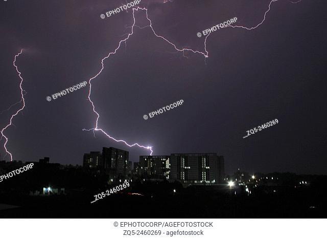 Lightning at Phursungi, Hadapsar, Pune