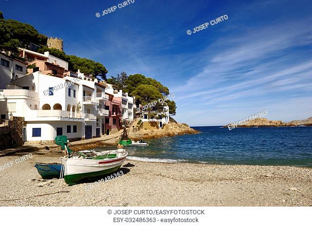 Sa Tuna Beach in Begur, Costa Brava, Girona, Catalonia, Spain