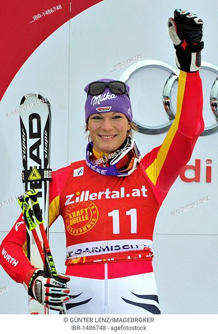 Maria Riesch, Ski World Cup, Garmisch-Partenkirchen, Bavaria, Germany, Europe