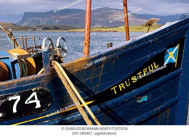 UK, Great Britain, Scotland, Isle of Mull, Loch Scridain and Creach Bheinn