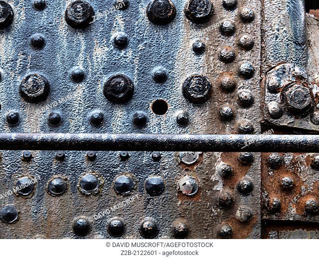 Rust on old railway truck