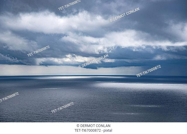 Ireland, County Donegal, Donegal Bay seen from Wild Atlantic Way