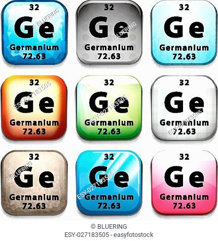Illustration of a periodic symbol of an element germanium