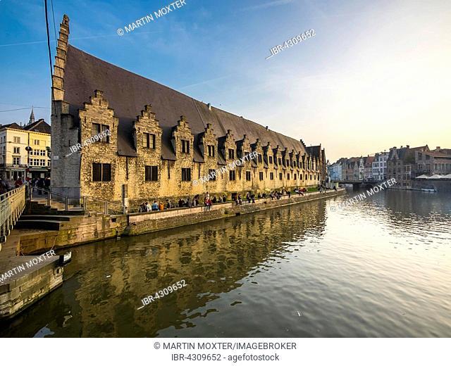 Former meat market, large Butchers' Hall, Ghent, Flanders, Belgium, Europe