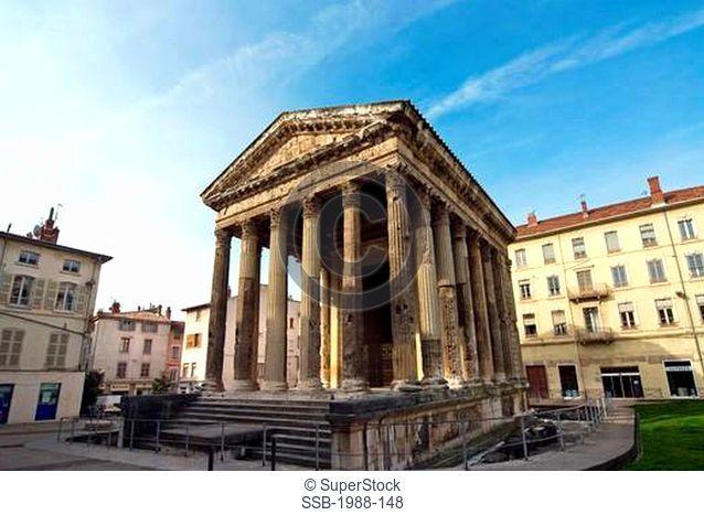 Temple D'Auguste Et De Livie, Vienne, France