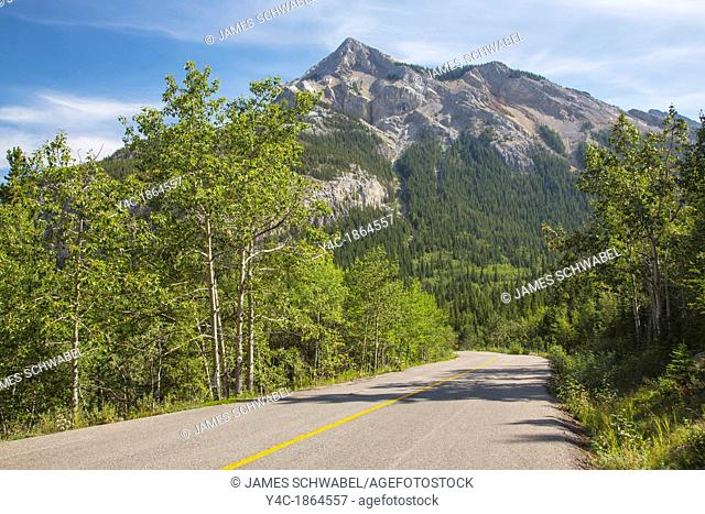 Route 40 also known as Kananaskis Trail part of the Bighorn Highway in Alberta Canada