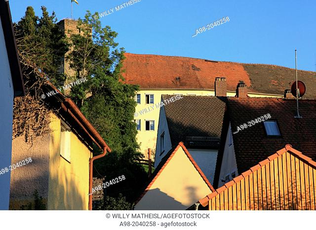 town and castle in the city of Hilpoltstein, Middle Franconia, Franconia, Bavaria, Germany, Europe