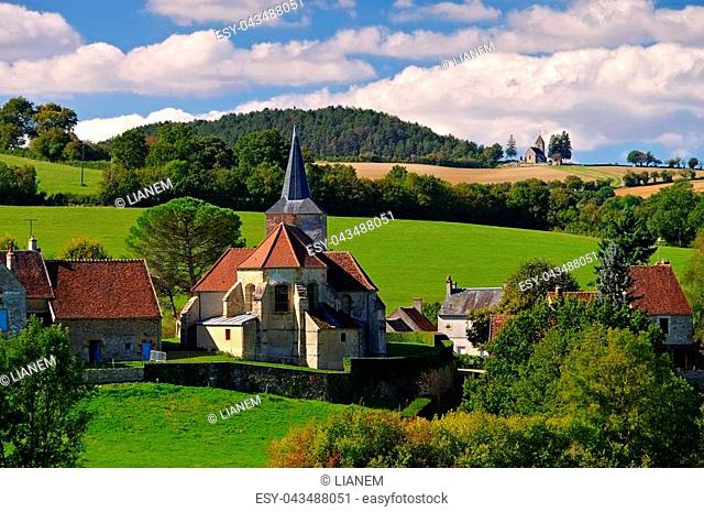 Bazoches, small village in Burgundy, France
