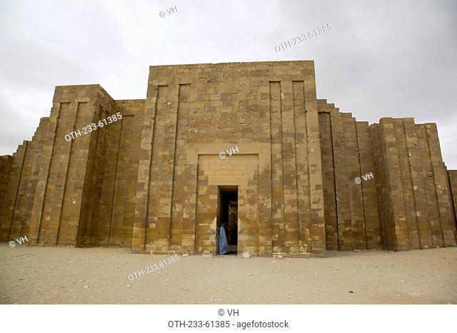 Enclosure wall at step pyramid of Djosa at Saqqara, Egypt