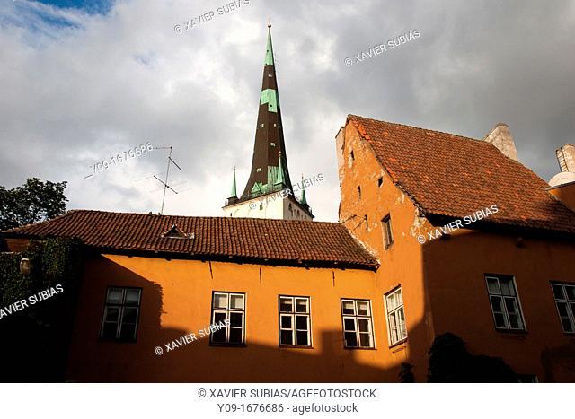 St Olaf's church, Old Town, Tallinn, Harju, Estonia