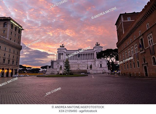 Vittoriano monument. Piazza Venezia. Rome, Italy