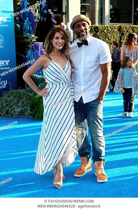 World premiere of Disney-Pixar's 'Finding Dory' at the El Capitan Theatre - Arrivals Featuring: Allison Holker, Stephen Boss Where: Hollywood, California