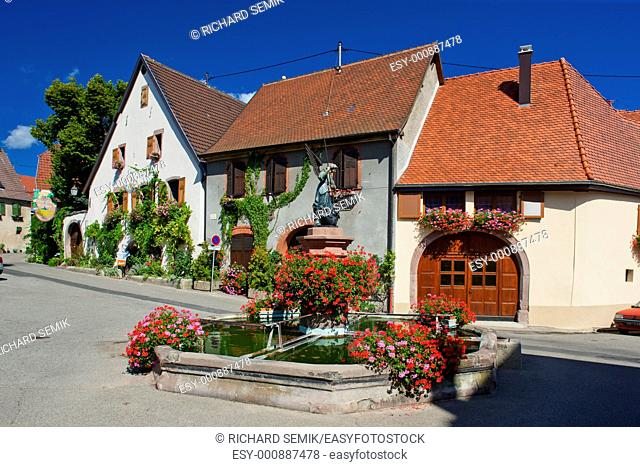 village in Haut Rhin, Alsace, France