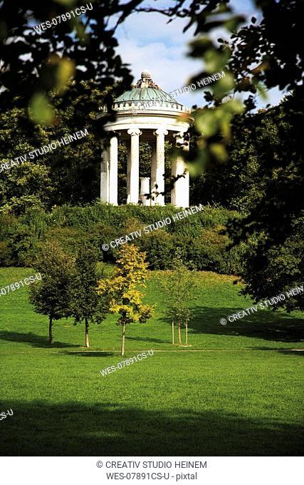 Germany, Bavaria, Munich, English Garden and Monopterus