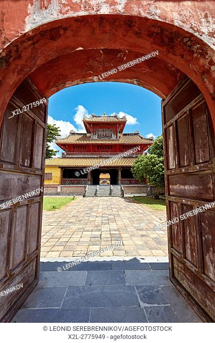 Hien Lam Pavilion (Pavilion of the Glorious Coming). Imperial City (The Citadel), Hue, Vietnam