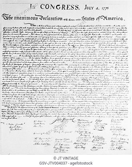 Declaration of Independence, USA, 1776