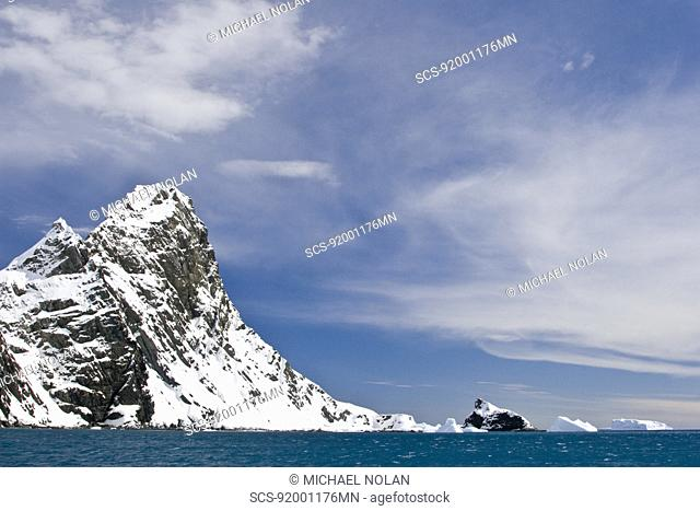 Views of point Wild,on Elephant Island, South Shetland Island Group, Antarctica This is the point and bay where Sir Ernest Shackleton's group stayed until their...