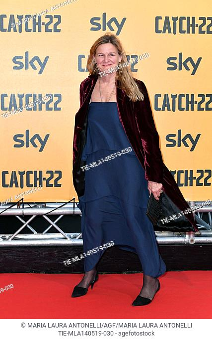 Ellen Kuras during the Red carpet for the Premiere of film tv Catch-22, Rome, ITALY-13-05-2019
