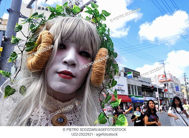 Naha, Okinawa, Japan: weird cosplay along Kokusai-dori