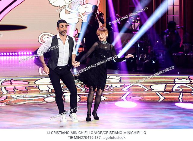 Milena Vukotic during the performance at the tv show Ballando con le stelle (Dancing with the stars) Rome, ITALY-27-04-2019