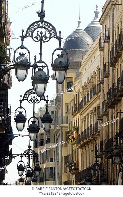 Street Lamps, Barcelona, Spain