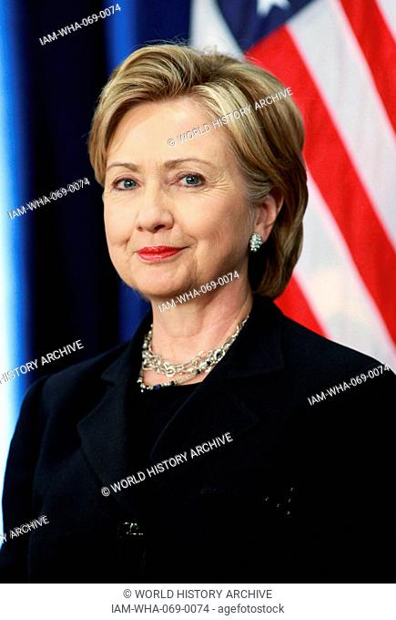 Photographic portrait of Hillary Clinton