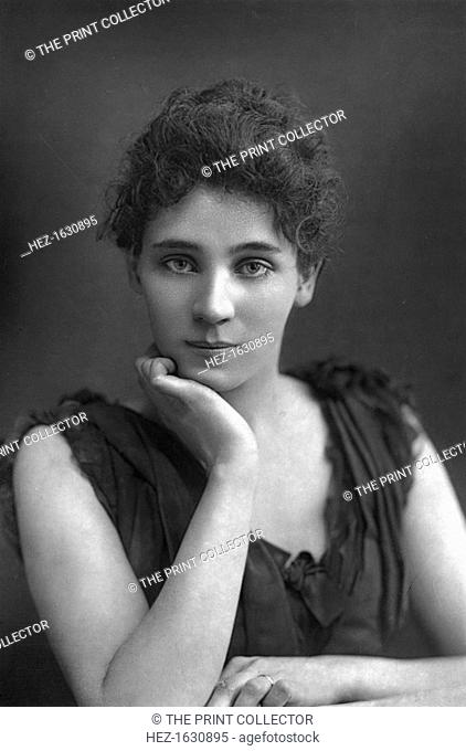 Elizabeth Robins (1862-1952), American actress, playwright, novelist, and suffragette, 1893. From The Cabinet Portrait Gallery, fourth series