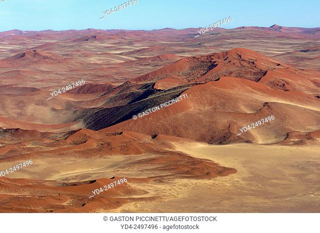 Aerial view, Namib-Naukluft National Park, Namib desert, Namibia