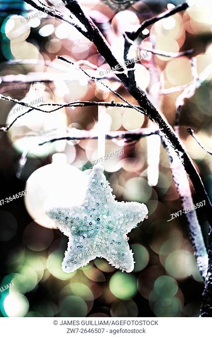 Christmas hanging decorative star