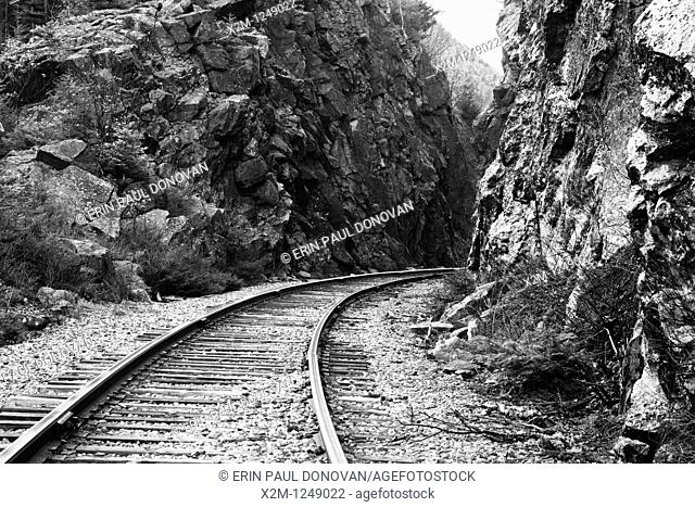 Crawford Notch State Park - Crawford Notch Pass along the Maine Central Railroad in the White Mountains, New Hampshire USA