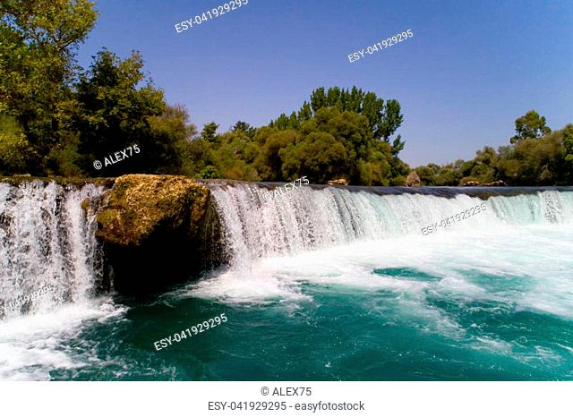 Turkey. Manavgat waterfall on the river of the same name