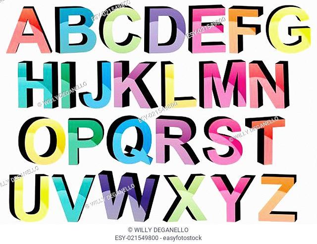 3d colors fonts