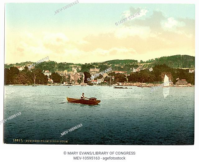 Windermere, Bowness, from Birch Holm, Lake District, England. Date between ca. 1890 and ca. 1900