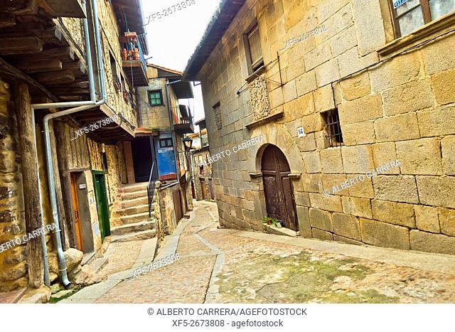 Traditional Architecture, Medieval Town, Miranda del Castañar, Salamanca, Castilla y León, Spain, Europe