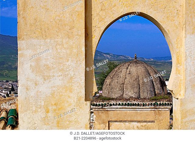 Maqbara (grave) on the southern hill of Fes, Morocco