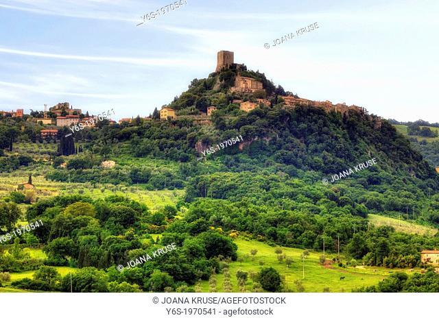 Castiglione d'Orcia, Rocca d'Orcia, Siena, Toscana, Italy
