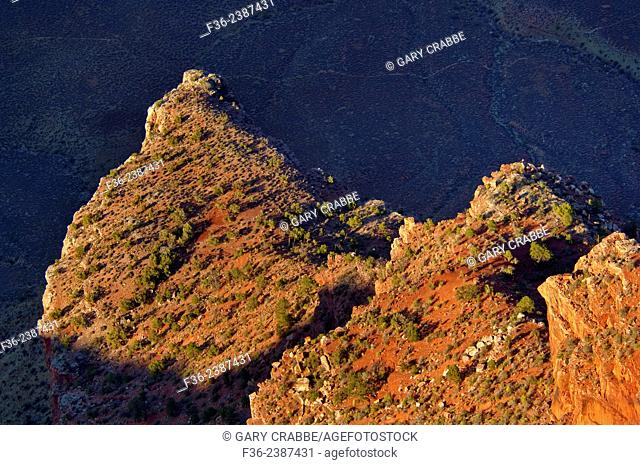 Canyon Detail along the South Rim, Grand Canyon National Park, Arizona