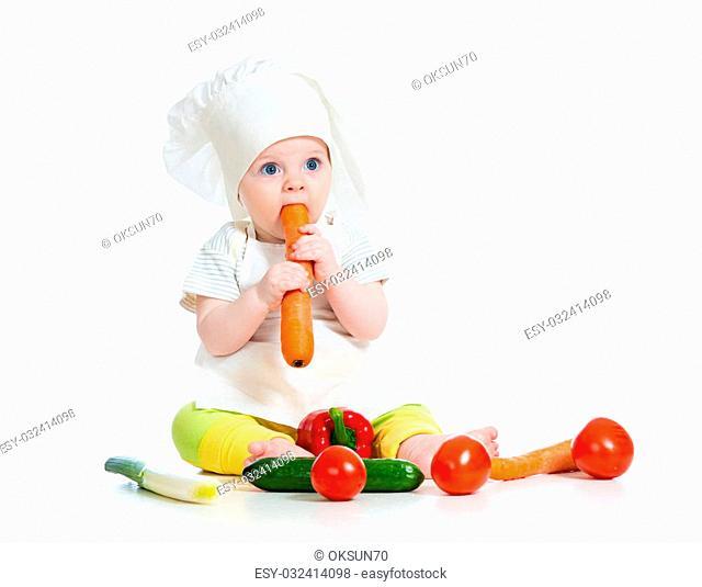 scullion baby girl isolated on white