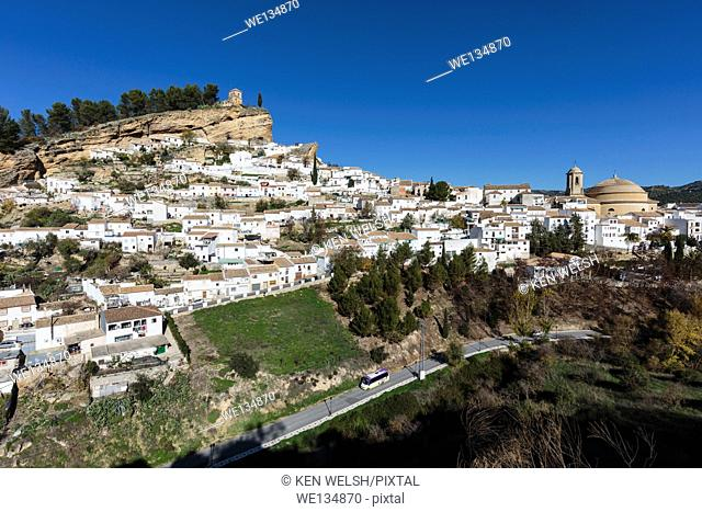 Montefrio, Granada Province, Andalusia, southern Spain. Typical white mountain town