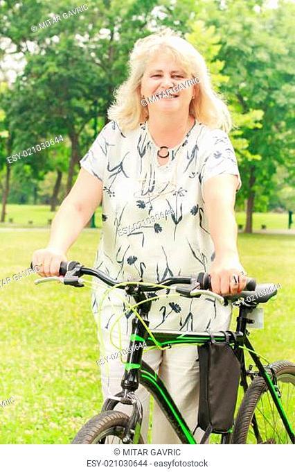 happy senior woman outdoor