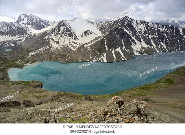 "Ala Kol lake """"3500 masl"""" in Tien Shan mountains, Kyrgyzstan"