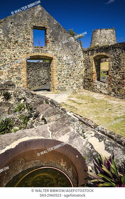 U. S. Virgin Islands, St. John, Leinster Bay, Annaberg Sugar Mill Ruins