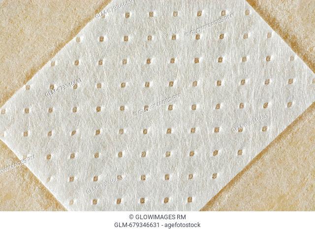 Close-up of an adhesive bandage