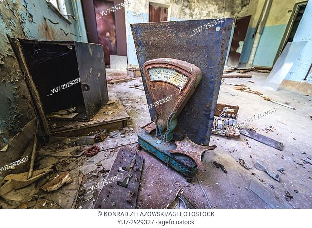 Abandoned Jupiter Factory in Pripyat ghost town of Chernobyl Nuclear Power Plant Zone of Alienation in Ukraine