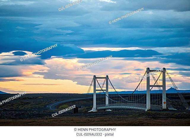 Bridge over river Jokulsa a Fjollum, north Iceland, Iceland