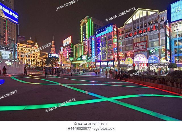 China, Asia, Shanghai, town, city, Nanjing Lu, east share, shopping street, street, shopping, shops, dealings, shops