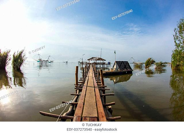 Lifestyle in thalenoi at phatthalung in thailand