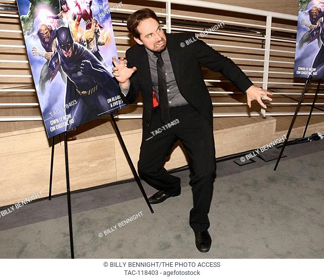 "Ray Chase attends premiere of Warner Home Movies' """"Justice League Dark"""" DC Universe Original Movies at The Paley Center for Media in Beverly Hills"