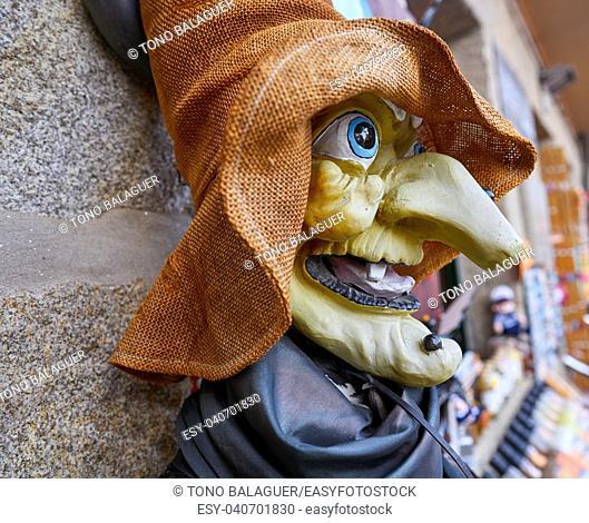 Witch face profile in Vigo at Galicia Spain